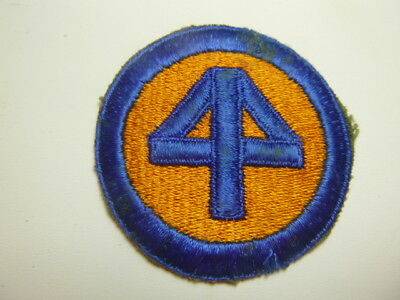 A    WW 2 U S Army 44th  Division O D Backing Cut Edge Snow Back Patch