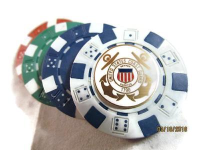 4 Uscg Us Coast Guard Logo Poker Chips Card Guard New