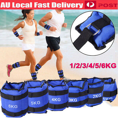 1 2 3 4 5 6Kg Adjustable Ankle Weights Gym Equipment Wrist Fitness Yoga Sandbag