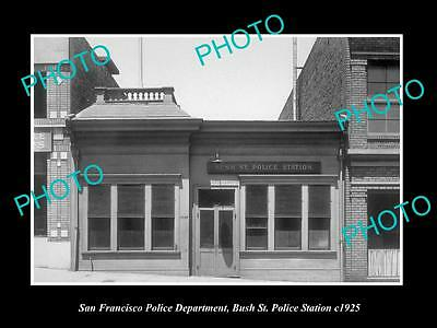 OLD LARGE HISTORIC PHOTO OF SAN FRANCISCO POLICE, BUSH St POLICE STATION 1925