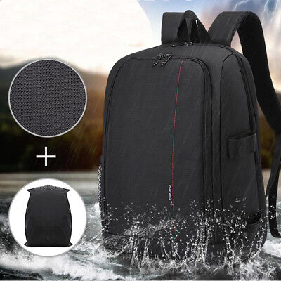 Camera Bag Backpack SLR DSLR Water/Shock-Resistant Case For Sony Canon Nikon KD