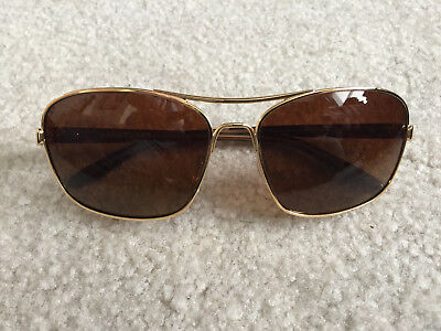 Oakley Sunglasses Sanctuary OO4116-03 Gold Frames Brown Polarized Lens