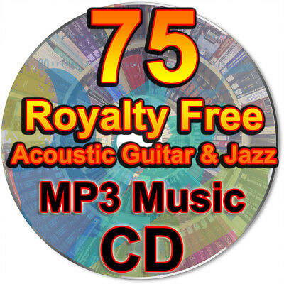 75 Acoustic Guitar & Jazz Ambient Background Instrumental Royalty Free Music CD