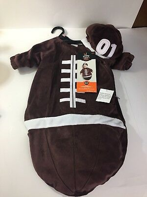 NWT Baby Plush Football Bunting Costume Hyde and Eek! Boutique Size 0-6 Months