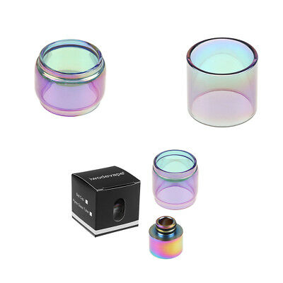 Replacement Rainbow Pyrex Glass Tube Fatboy Glass Tube Drip Tip