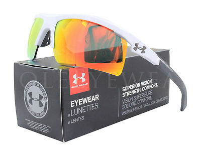 NEW Under Armour Core 2.0 Shiny White Charcoal /Orange 8600082 100941 Sunglasses