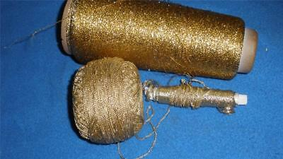 220 Grams Of Chrochet Cotton Gold Metallic