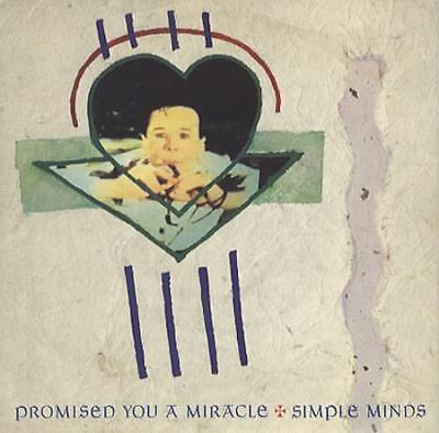 """Simple Minds Promised You A Miracle UK 7"""" vinyl single record VS488 VIRGIN"""