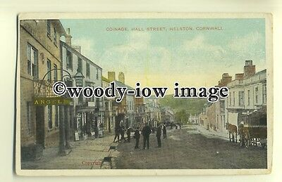 tp0173 - Cornwall - Coinage & Angel Hotel, Hall Street, Helston c1908 - postcard