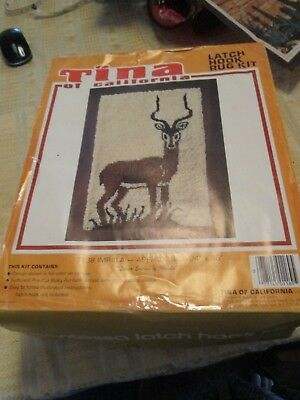 "Impala""latch Hook Kit-Full.""contessa"" Deluxe.rug & All Wool. Boxed.unused."
