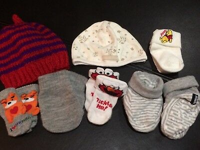 Baby Hats, Mittens, Booties and new socks - Winnie The Pooh & Bonds bundle