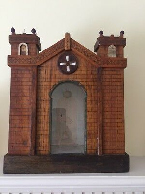 Unusual Folk Art Castle Display Case