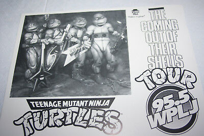 Vintage Tmnt 1989 Promo Photo Pizza Hut Out Of Shell Tour Radio City Ny