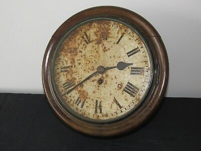 Well Made 10in Fusee Dial Wall Clock For Restoration