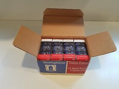 Westinghouse Flash Cubes 36 Cubes Full Case NOS Instant Camera Type X~NEW!!!