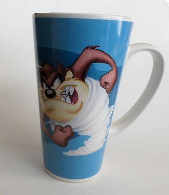 "Ceramic Looney Tunes ""Taz Whirlwind"" Tall Coffee Mug, Warner Bros, by Gibson"
