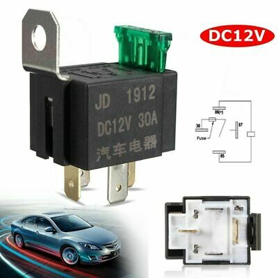 4-Pin Fused On/Off Automotive Fused Relay 12V 30A Normally Open Car Bike
