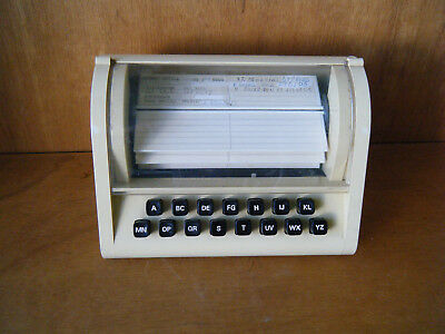Vintage bakelite battery operated customer index card sorter