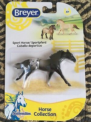 Breyer Stablemate 2015-17 Black Appaloosa Sport Horse G2 Thoroughbred