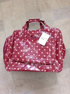 Red Spotty PVC Sewing Machine Bag For Sewers/Dressmaker