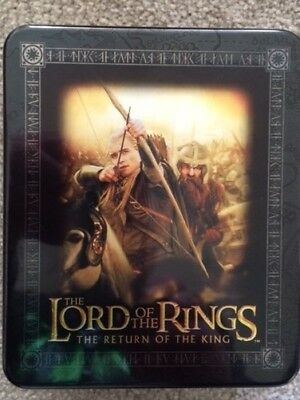 The Lord Of The Rings The Return Of The King Action Flipz Tin With 2 Packs Cards