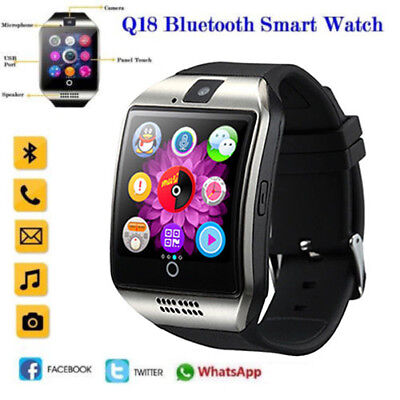 🌟 Q18 Sport Smart watch Armbanduhr Bluetooth Wasserdicht GSM für Android iPhone