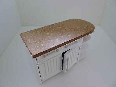 Dolls House Miniature 1:12th Scale White Cabinet With Doors Kitchen Furniture