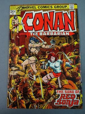 Conan The Barbarian #24 Fine-VF First Full Red Sonja Marvel Comics 1973
