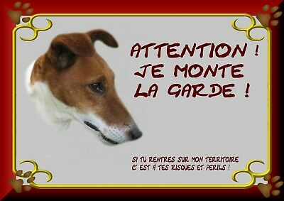 Pancarte Attention Chien Plastifiee Jack Russel 1