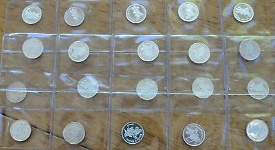 New 20 UNC 1/20 ounce Silver Disney Characters