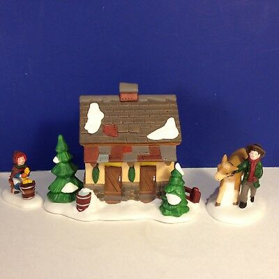 SALE Dept 56 Dickens Village TENDING THE NEW CALVES Set of 3 w/ box