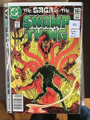 SAGA OF THE SWAMP THING #13 VF/NM 1st Print CANADIAN PRICE VARIANT Newsstand