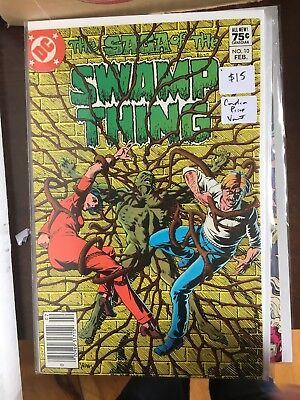 SAGA OF THE SWAMP THING #10 NM- 1st Print CANADIAN PRICE VARIANT Newsstand comic