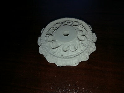 """Dollhouse Miniature Small Plaster Resin Ceiling Rose Medallion 1:12 Scale 1 1/2"""""""