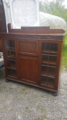 Antque Old Mini Bureaux / Desk Cupboard and Display / Book Shelves