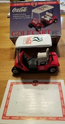 Coca Cola 1995 Die Cast Golf Cart Limited Edition