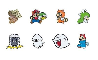 Super Mario Bros 3 Collector Pins Complete Set of 8 - Switch 3DS Wii Snes NES