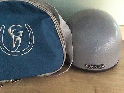 Brand new HS1 silver riding hat 60cm