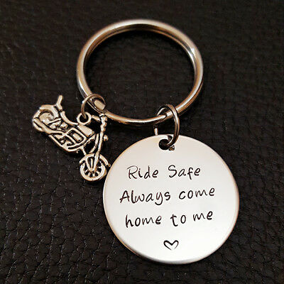 Biker Ride Safe Key Chain, Always Come Home to Me