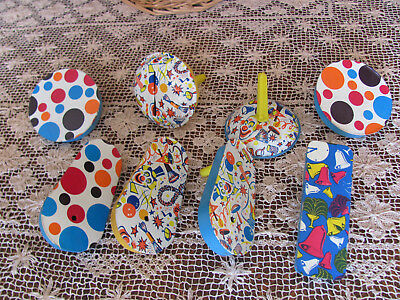 1950s VTG BOX LOT 8 *TIN LITHO NEW YEAR'S EVE NOISEMAKERS Great Graphics $11.50