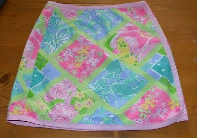 Lilly Pulitzer girl's reversible wrap skirt 6X
