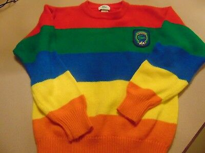 Vintage 80s Izod Lacoste Sweater Jersey Boys Medium French American Cup EXC