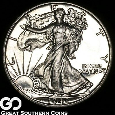1942 Walking Liberty Half Dollar PROOF, Impressive Superb Gem PF++ ** Free S/H!
