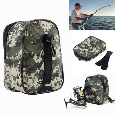 Outdoor Camo Fishing Reel Waist Bag Portable Tackle Holder Storage Pouch Eyeful