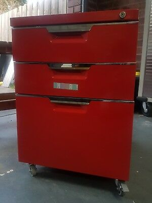 Red filling cabinet