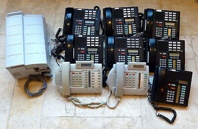 BT Norstar Meridian Telephone System With 14 Handsets