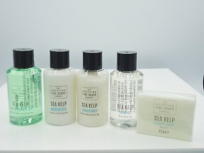 Scottish Fine Soaps Pack of 5 Sea KelpTravel size toiloetries