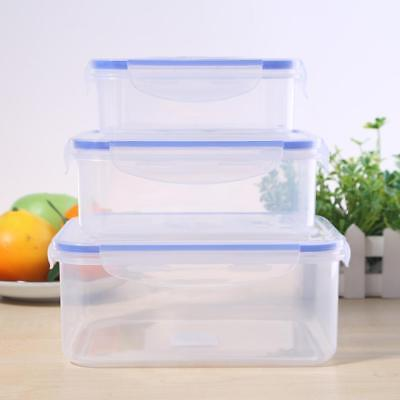 Plastic Clear Fresh Keeping Sealed Food Storage Container Lunch Case Bento Box
