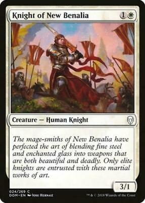 4x NM-Mint English Foil Knight of New Benalia Foil Dominaria magicmtg