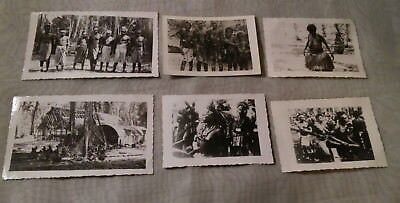 Lot of 6 Vintage Original WW2 Native Tribe Photograph Photos Nude WWII LOOK!